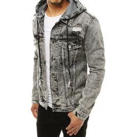 Dark gray men's denim jacket TX3304