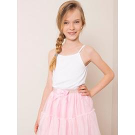 Biały bawełniany top dla dziewczynki