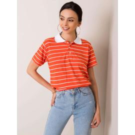 RUE PARIS Pomarańczowa koszulka polo