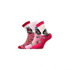 3PACK dětské ponožky Boma růžové (Krtek-Mix 1)