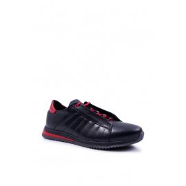 Men's Brogues Bednarek Sport Leather Shoes Black Geos