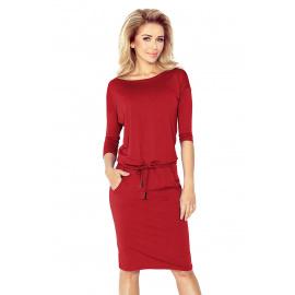 Ženska sportska haljina s 3/4 rukavima, Numoco 13-66 - bordo,