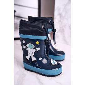 Children's Rubber Galoshes boots Navy Astronaut Mordeso