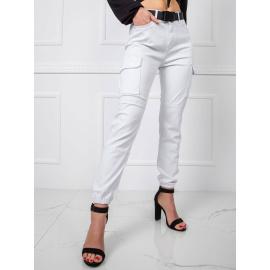 Białe jeansy cargo