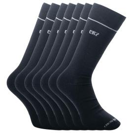 7PACK ponožky CR7 bambusové černé (8184-80-09) L