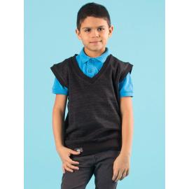 Chłopięcy czarny sweter bez rękawów