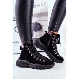 Women's Trekker Shoes Leather Suede Big Star GG274893