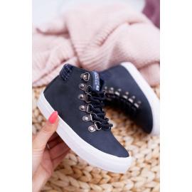 Children's Boy's Shoes Sneakers Big Star Navy Blue EE374038