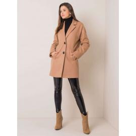 Beżowy damski płaszcz