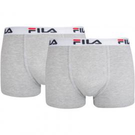 2PACK pánské boxerky Fila šedé (FU5016/2-400)