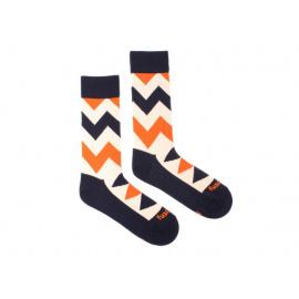 Veselé ponožky Fusakle cikcak světlý (--0797)