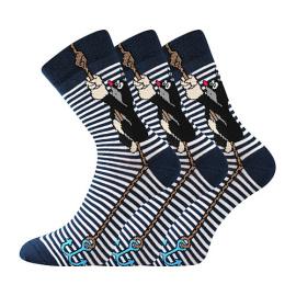3PACK ponožky BOMA modré (KR 111)
